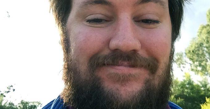 Poet Dan Hogan's face